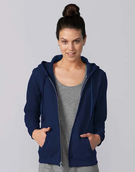 GILDAN Ladies Heavyweight Full Zip Hooded Sweat