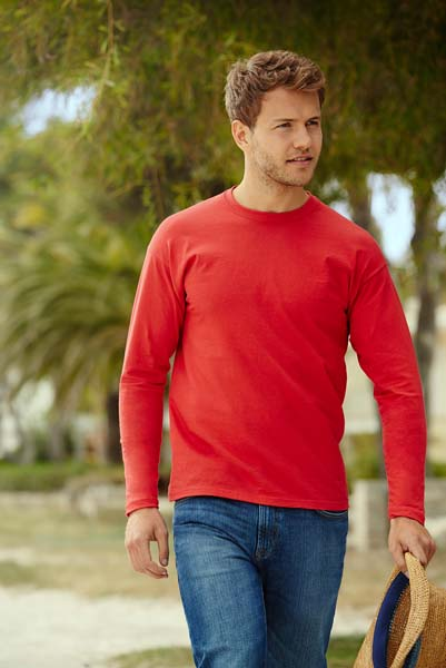 T-shirt FRUIT OF  THE LOOM VALUEWEIGHT LONG SLEEVE T