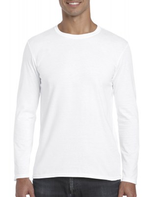 ΛΕΥΚΟ GILDAN Mens Softstyle® Long Sleeve Tee