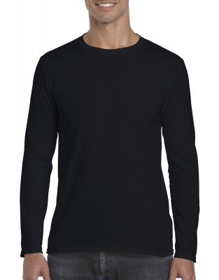 ΜΑΥΡΟ GILDAN Mens Softstyle® Long Sleeve Tee