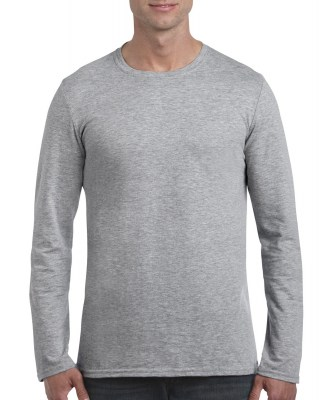 ΓΚΡΙ ΜΕΛΑΝΖΕ GILDAN Mens Softstyle® Long Sleeve Tee