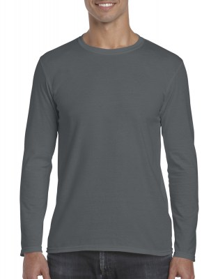 ΓΚΡΙ ΣΚΟΥΡΟ GILDAN Mens Softstyle® Long Sleeve Tee