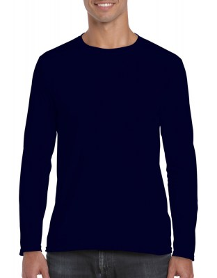ΜΠΛΕ GILDAN Mens Softstyle® Long Sleeve Tee