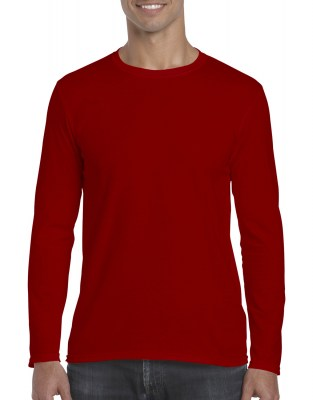 ΚΟΚΚΙΝΟ GILDAN Mens Softstyle® Long Sleeve Tee