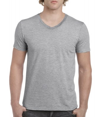 ΓΚΡΙ ΜΕΛΑΝΖΕ GILDAN Mens Softstyle® V-Neck T-Shirt
