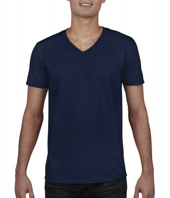 ΜΠΛΕ GILDAN Mens Softstyle® V-Neck T-Shirt