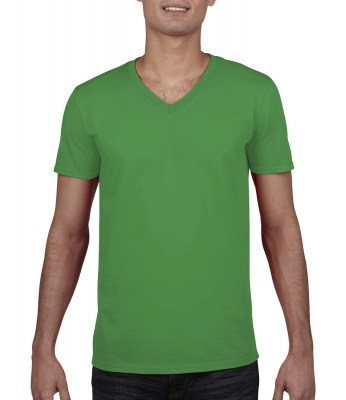 ΠΡΑΣΙΝΟ GILDAN Mens Softstyle® V-Neck T-Shirt