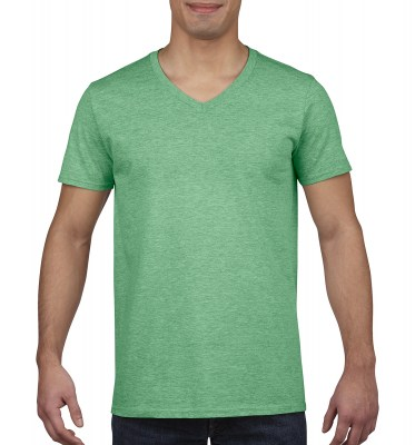 ΠΡΑΣΙΝΟ ΜΕΛΑΝΖΕ GILDAN Mens Softstyle® V-Neck T-Shirt