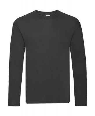 ΜΑΥΡΟ FRUIT OF THE LOOM Original Long Sleeve T
