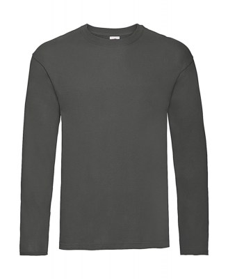 ΓΚΡΙ ΣΚΟΥΡΟ FRUIT OF THE LOOM Original Long Sleeve T