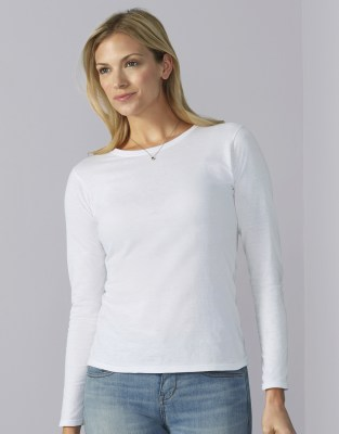 GILDAN Ladies Softstyle® T-Shirt LS