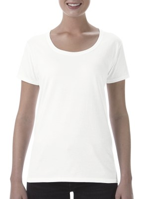 ΛΕΥΚΟ GILDAN Softstyle® Ladies Deep Scoop T-Shirt