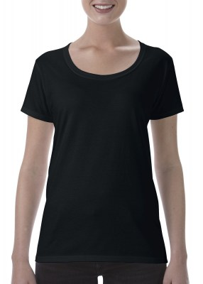 ΜΑΥΡΟ GILDAN Softstyle® Ladies Deep Scoop T-Shirt