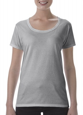 ΓΚΡΙ  ΜΕΛΑΝΖΕ GILDAN Softstyle® Ladies Deep Scoop T-Shirt