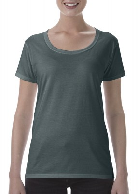 ΓΚΡΙ ΣΚΟΥΡΟ ΜΕΛΑΝΖΕ GILDAN Softstyle® Ladies Deep Scoop T-Shirt