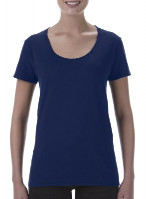 ΜΠΛΕ GILDAN Softstyle® Ladies Deep Scoop T-Shirt