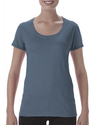 ΜΠΛΕ ΜΕΛΑΝΖΕ GILDAN Softstyle® Ladies Deep Scoop T-Shirt