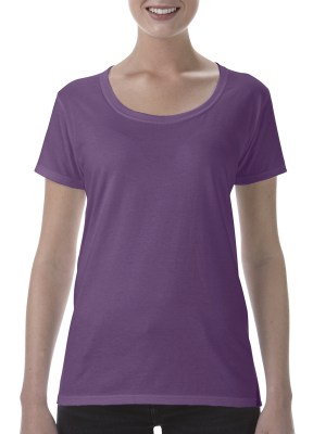ΜΩΒ ΣΚΟΥΡΟ ΜΕΛΑΝΖΕ GILDAN Softstyle® Ladies Deep Scoop T-Shirt