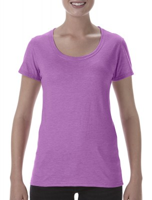 ΛΙΛΑ ΜΕΛΑΝΖΕ GILDAN Softstyle® Ladies Deep Scoop T-Shirt