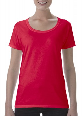 ΚΟΚΚΙΝΟ GILDAN Softstyle® Ladies Deep Scoop T-Shirt