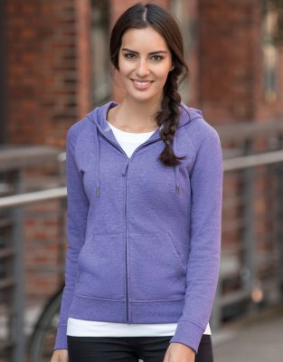 RUSSELL Ladies HD Zipped Hood Sweat