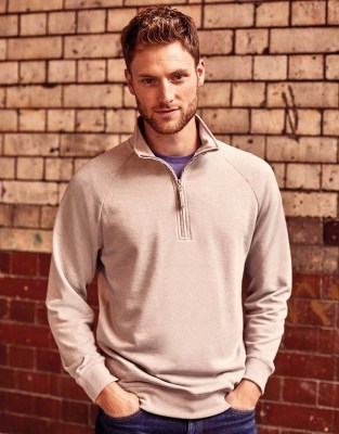 RUSSELL Men HD 1/4 Zip Sweat