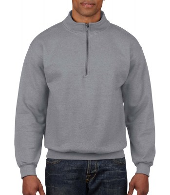ΓΚΡΙ ΜΕΛΑΝΖΕ GILDAN Vintage 1/4 Zip Sweat