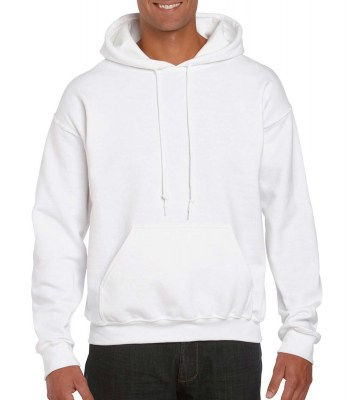 ΛΕΥΚΟ GILDAN DryBlend Adult Hooded Sweat