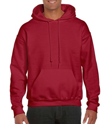 ΒΑΘΥ ΚΟΚΚΙΝΟ GILDAN DryBlend Adult Hooded Sweat