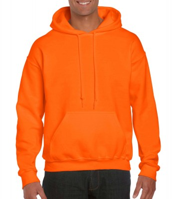 SAFETY ORANGE GILDAN DryBlend Adult Hooded Sweat