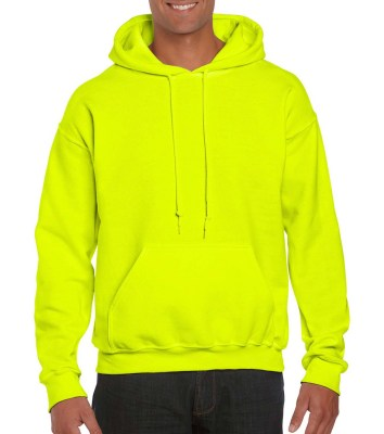 SAFETY GREEN GILDAN DryBlend Adult Hooded Sweat