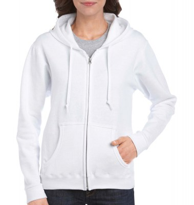 ΛΕΥΚΟ GILDAN Ladies Heavyweight Full Zip Hooded Sweat