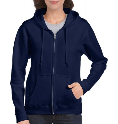 ΜΠΛΕ GILDAN Ladies Heavyweight Full Zip Hooded Sweat