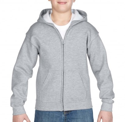 ΓΚΡΙ ΜΕΛΑΝΖΕ GILDAN Heavy Blend Youth Full Zip Hooded Sweat
