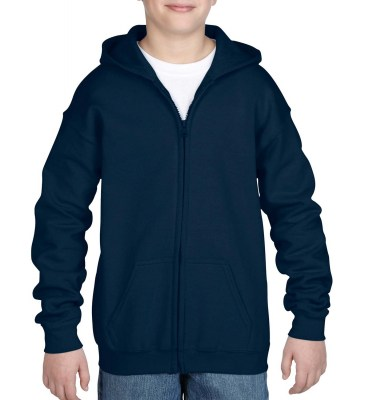ΜΠΛΕ GILDAN Heavy Blend Youth Full Zip Hooded Sweat