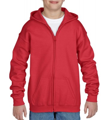 ΚΟΚΚΙΝΟ GILDAN Heavy Blend Youth Full Zip Hooded Sweat