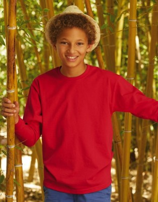 FRUIT OF THE LOOM Valueweight Long Sleeve T Kids