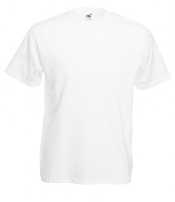 ΛΕΥΚΟ FRUIT OF THE LOOM T-SHIRT VALUEWEIGHT