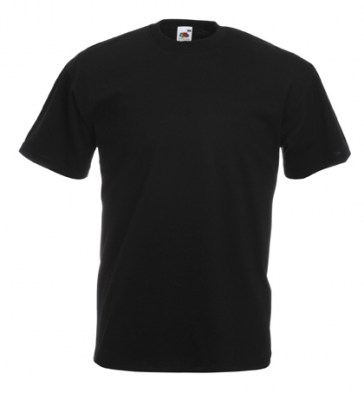 ΜΑΥΡΟ FRUIT OF THE LOOM T-SHIRT VALUEWEIGHT