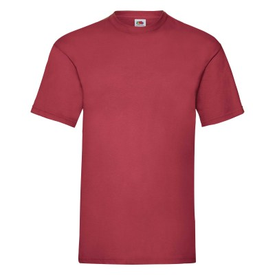 ΒΑΘΥ ΚΟΚΚΙΝΟ FRUIT OF THE LOOM T-SHIRT VALUEWEIGHT
