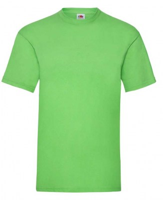 LIME FRUIT OF THE LOOM T-SHIRT VALUEWEIGHT