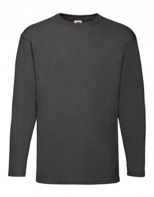 ΓΚΡΙ  ΣΚΟΥΡΟ T-shirt FRUIT OF  THE LOOM VALUEWEIGHT LONG SLEEVE T
