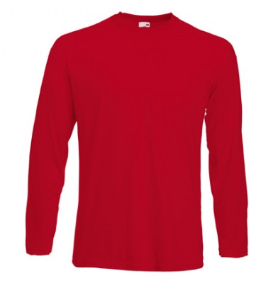ΚΟΚΚΙΝΟ T-shirt FRUIT OF  THE LOOM VALUEWEIGHT LONG SLEEVE T