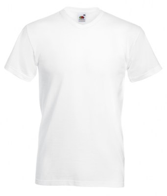 ΛΕΥΚΟ T-shirt FRUIT OF THE LOOM VALUEWEIGHT V-NECK T