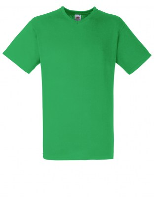 ΠΡΑΣΙΝΟ T-shirt FRUIT OF THE LOOM VALUEWEIGHT V-NECK T