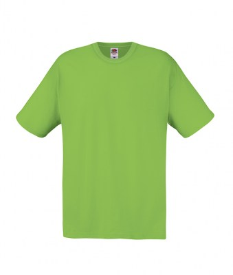 LIME T-shirt FRUIT OF THE LOOM  ORIGINAL T