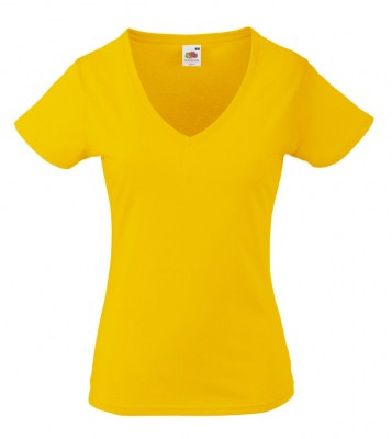 ΚΙΤΡΙΝΟ FRUIT OF THE LOOM LADY-FIT VALUEWEIGHT V-NECK T