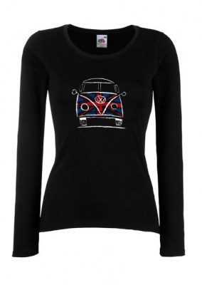 ΜΑΥΡΟ FRUIT OF THE LOOM Lady-Fit Valueweight Long Sleeve T Α8168