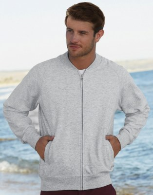 FRUIT OF THE LOOM Lightweight Baseball Sweat Jacket