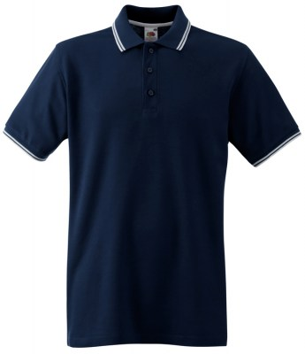 ΜΠΛΕ / ΛΕΥΚΟ FRUIT OF THE LOOM Polo Premium Tipped
